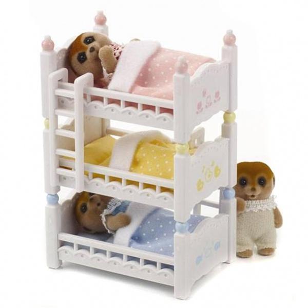 Мебель и аксессуары Sylvanian Families Трехъярусная кровать<br>