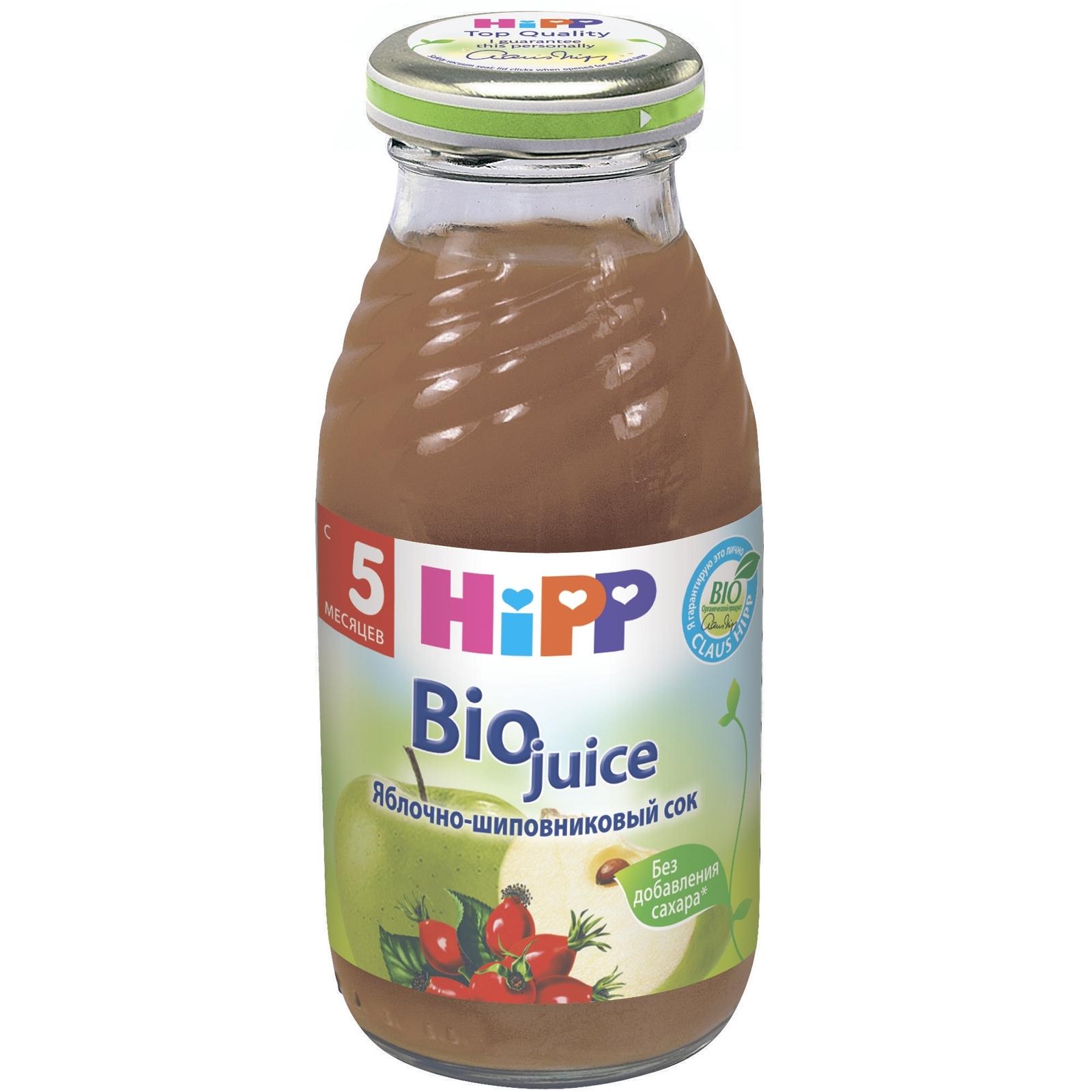 Сок Hipp 200 мл Яблочно-шиповниковый с мякотью (с 6 мес)