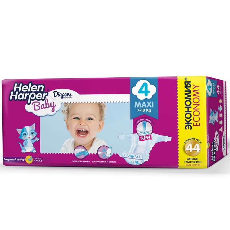 Подгузники Helen Harper Baby Maxi 7-18 кг. (44 шт.) Размер 4<br>