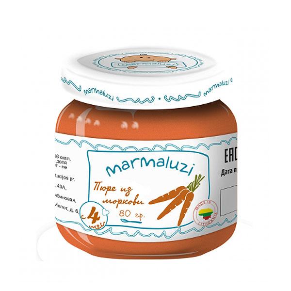 Пюре Marmaluzi овощное 80 гр Морковь (с 4 мес)<br>