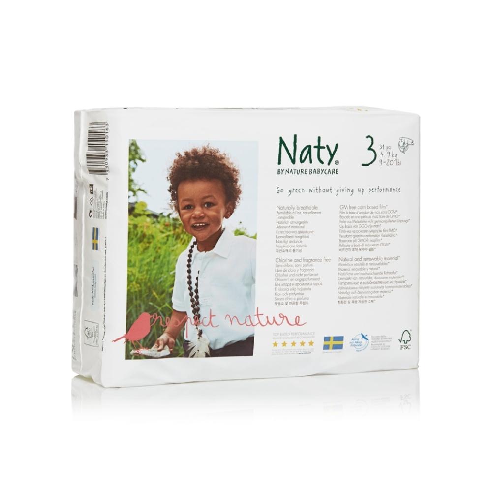 Подгузники Naty 4-9 кг (31 шт) Размер 3<br>