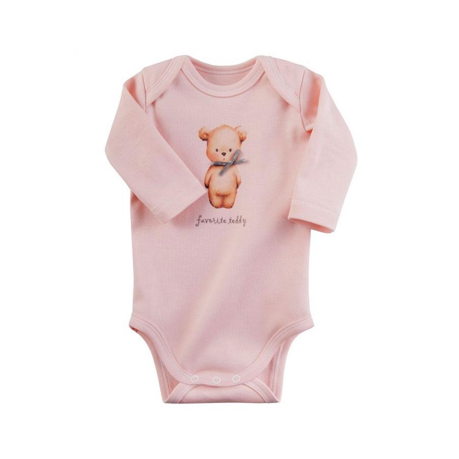 Боди с длинным рукавом Наша Мама Favorite teddy рост 80 цвет розовый<br>