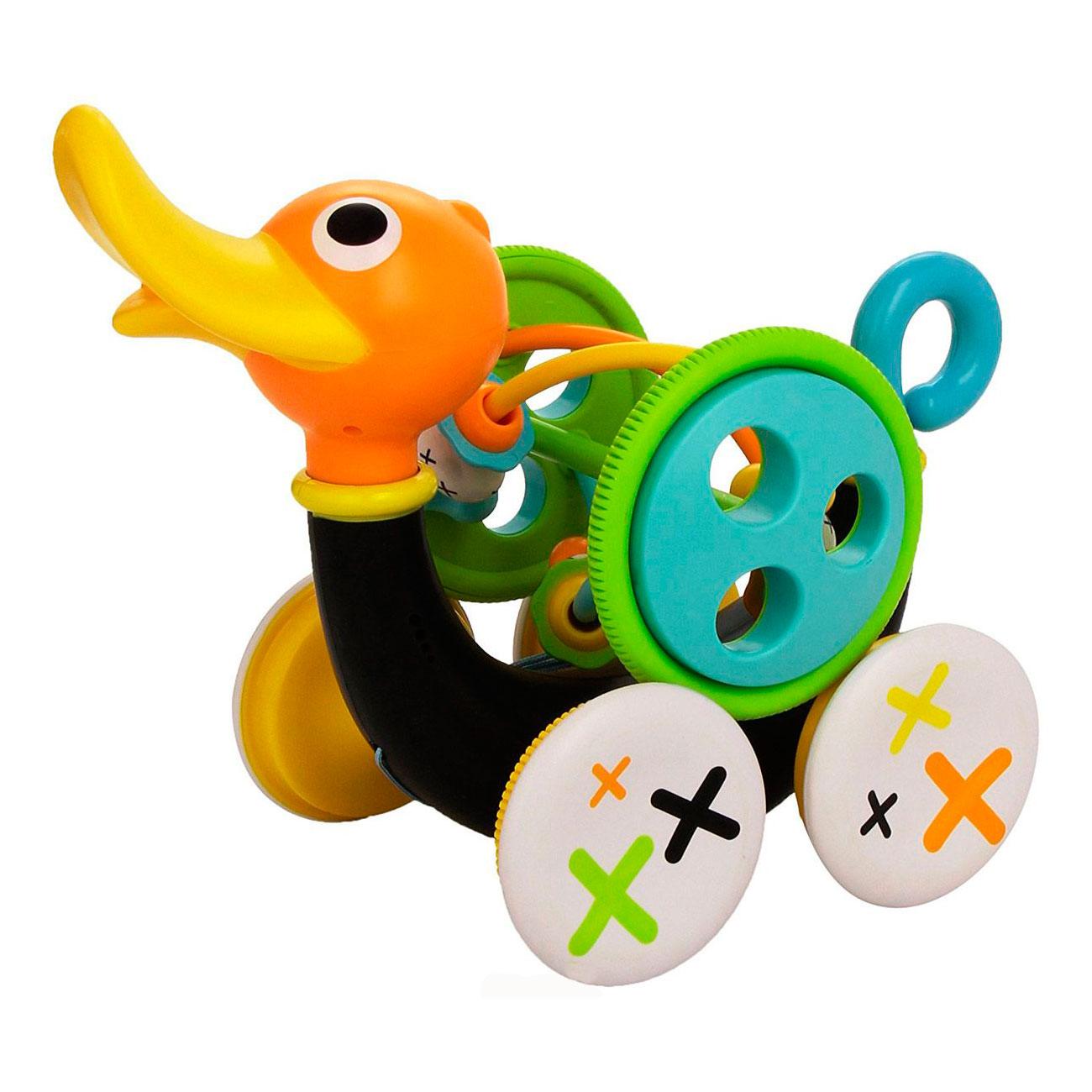 Развивающая игрушка Yookidoo Каталка-лабиринт Музыкальная уточка<br>