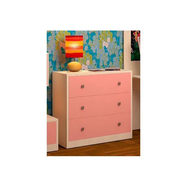 Комод РВ-Мебель Дуб молочный/Розовый<br>