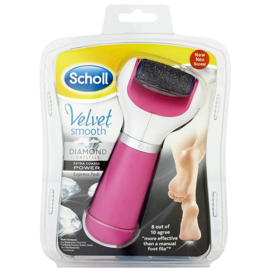 Пилка электрическая роликовая Scholl с экстражестким роликом розовая<br>