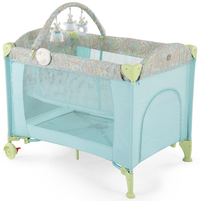 Кровать-манеж Happy Baby Lagoon V2 Голубой<br>