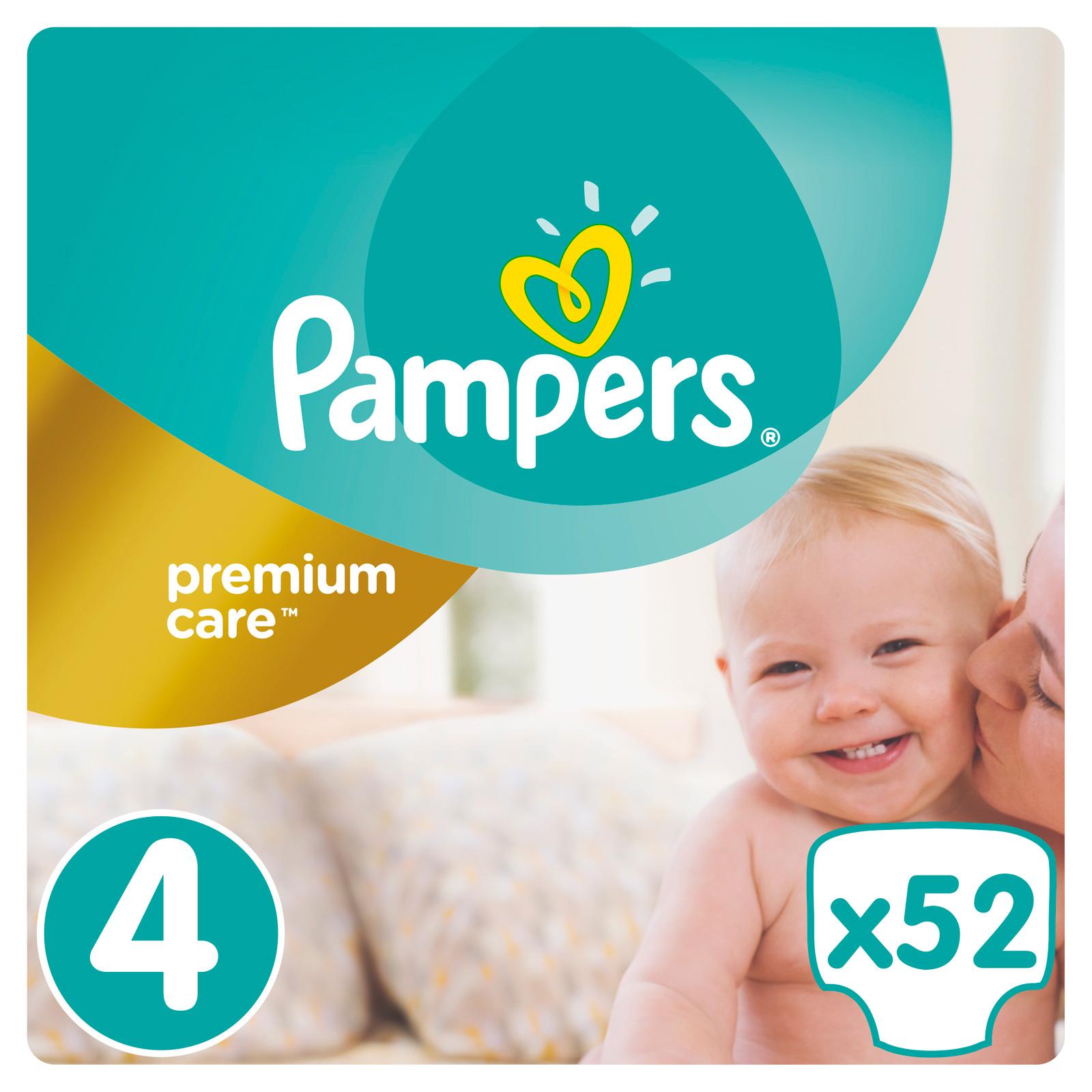 Подгузники Pampers Premium Care Maxi 8-14 кг (52 шт) Размер 4<br>