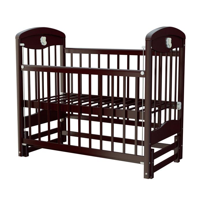 Кроватка Briciola 2 с продольным маятником Темная<br>