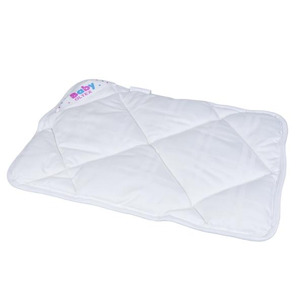Подушка Baby-Oltex Лебяжий пух для новорожденных плоская 40х60