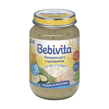 Пюре Bebivita овощи с мясом 190 гр Овощное рагу с цыпленком (с 9 мес)