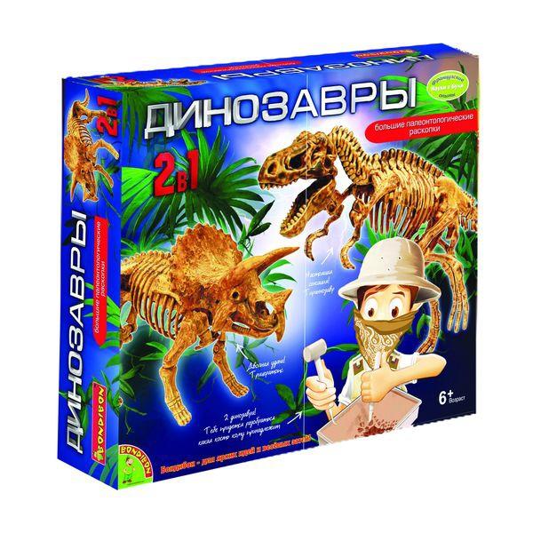 Французские опыты Науки с Буки BONDIBON Динозавры 2 в 1<br>