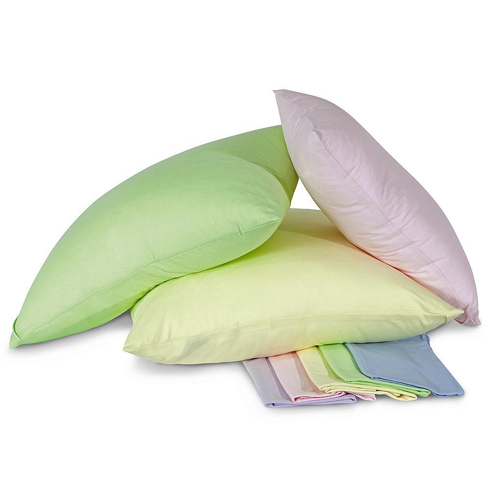 Комплект трикотажных наволочек Ol-tex на молнии В ассортименте (Голубой, Бледно-розовый, Светло-зеленый, Белый, Бежевый, Персик)<br>