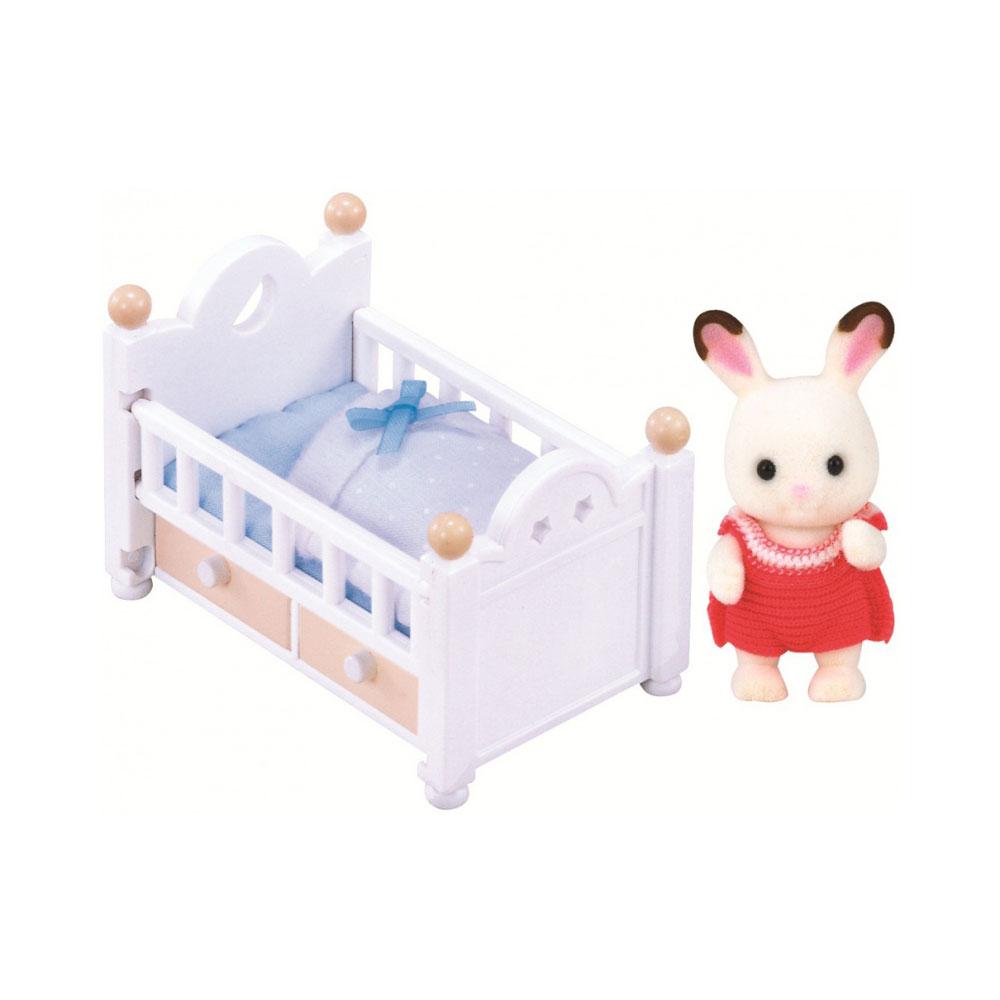 Игровой набор Sylvanian Families Малыш и детская кроватка<br>