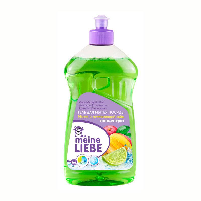Гель Meine Liebe для мытья посуды 500 мл Манго и Освежающий лайм (концентрат)<br>