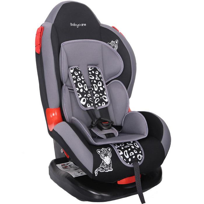 Автокресло Baby Care BC-02 Люкс Леопардик Серый<br>