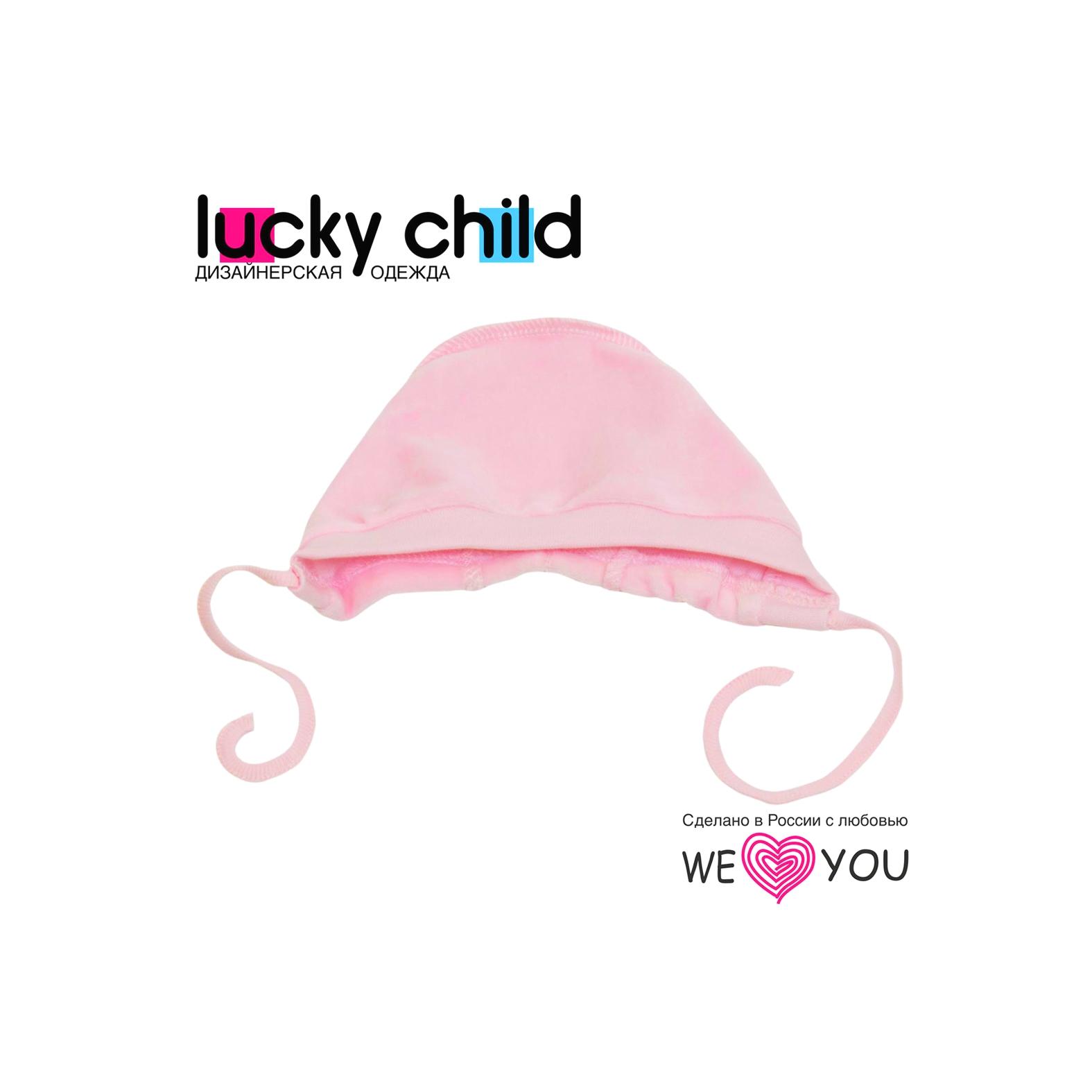 Чепчик из велюра Lucky Child, цвет розовый размер 38<br>