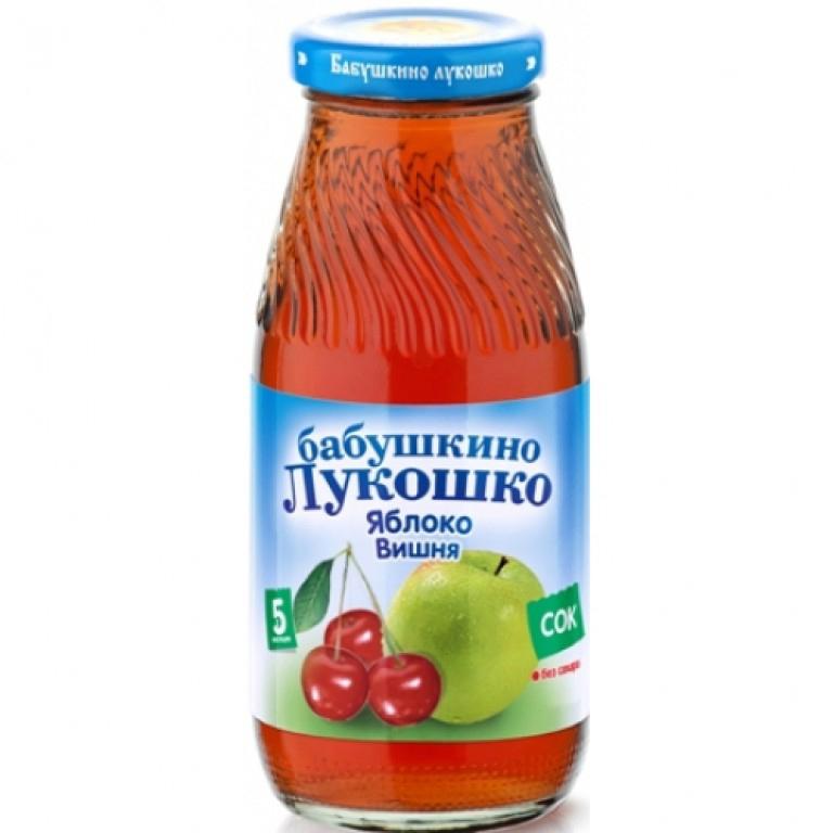 Сок Бабушкино лукошко 200 мл Яблоко с вишней (с 5 мес)