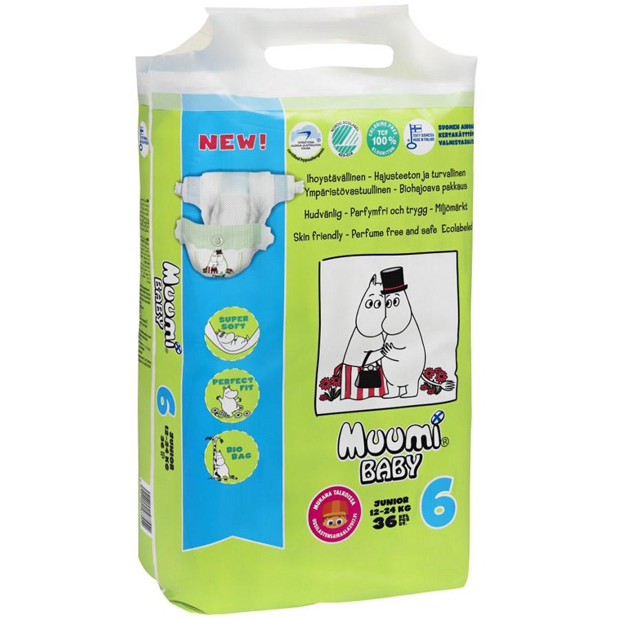 Подгузники Muumi Baby Junior 12-24 кг (36 шт) Размер 6<br>