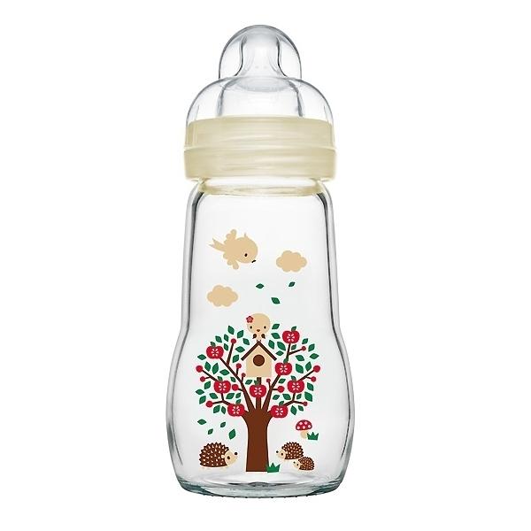 Бутылочка MAM Feel Good Bottle Стеклянная 260 мл (с 0 мес) бежевая<br>