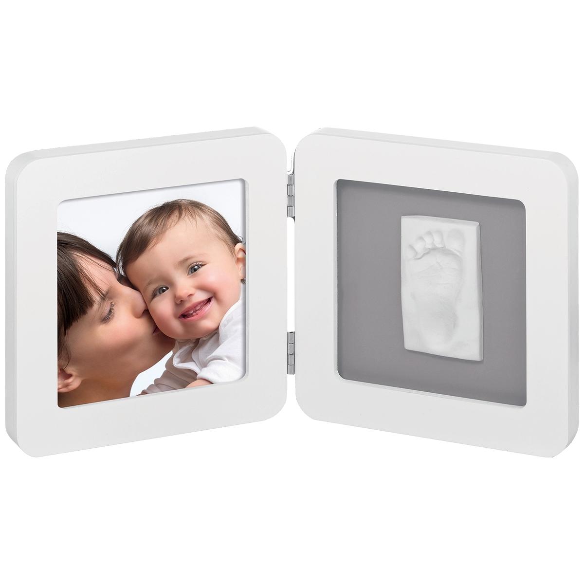 Рамочка Baby Art PRINT Frame двойная Белая с серым<br>