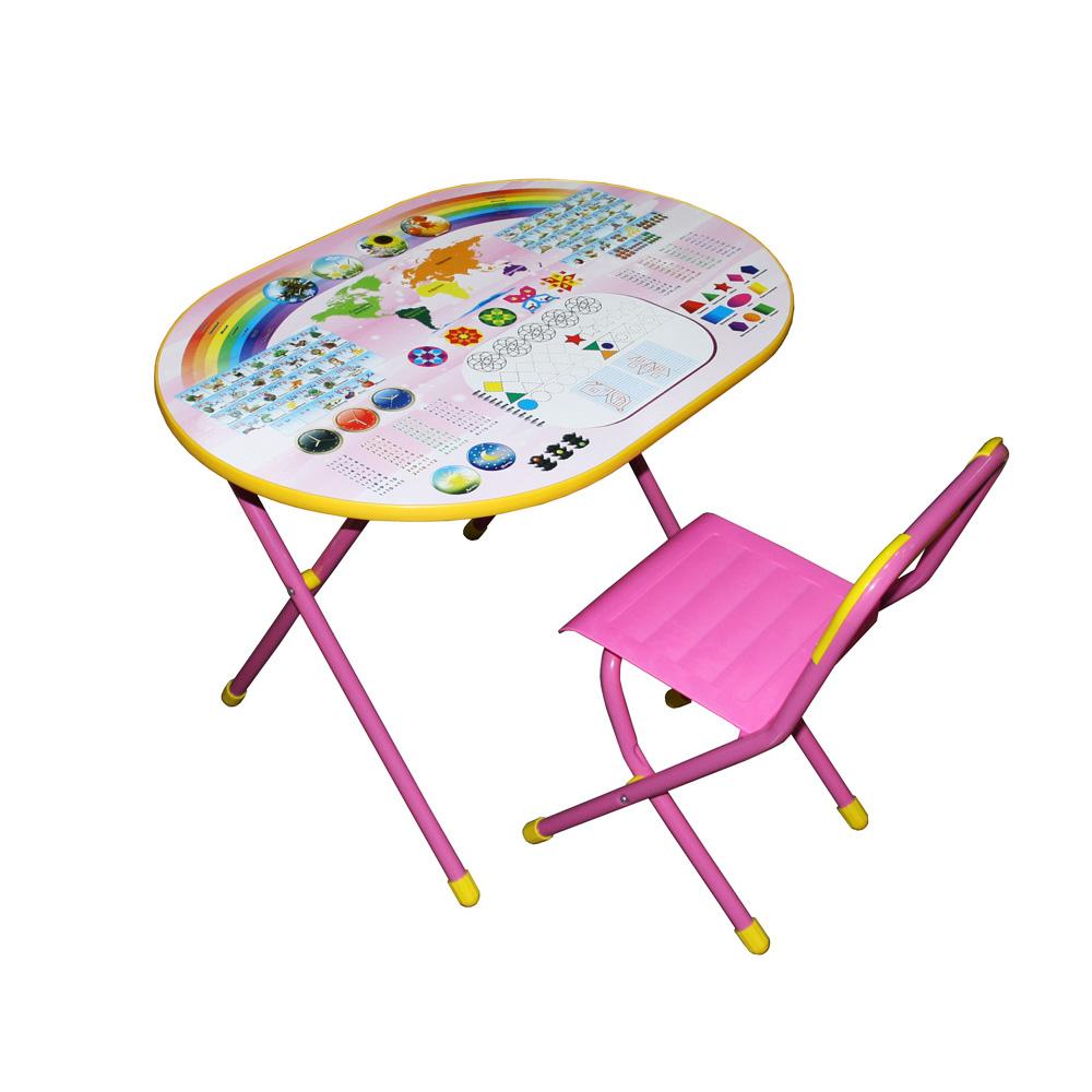 Набор мебели стол и стул Дэми Овал Блокнот Розовый<br>