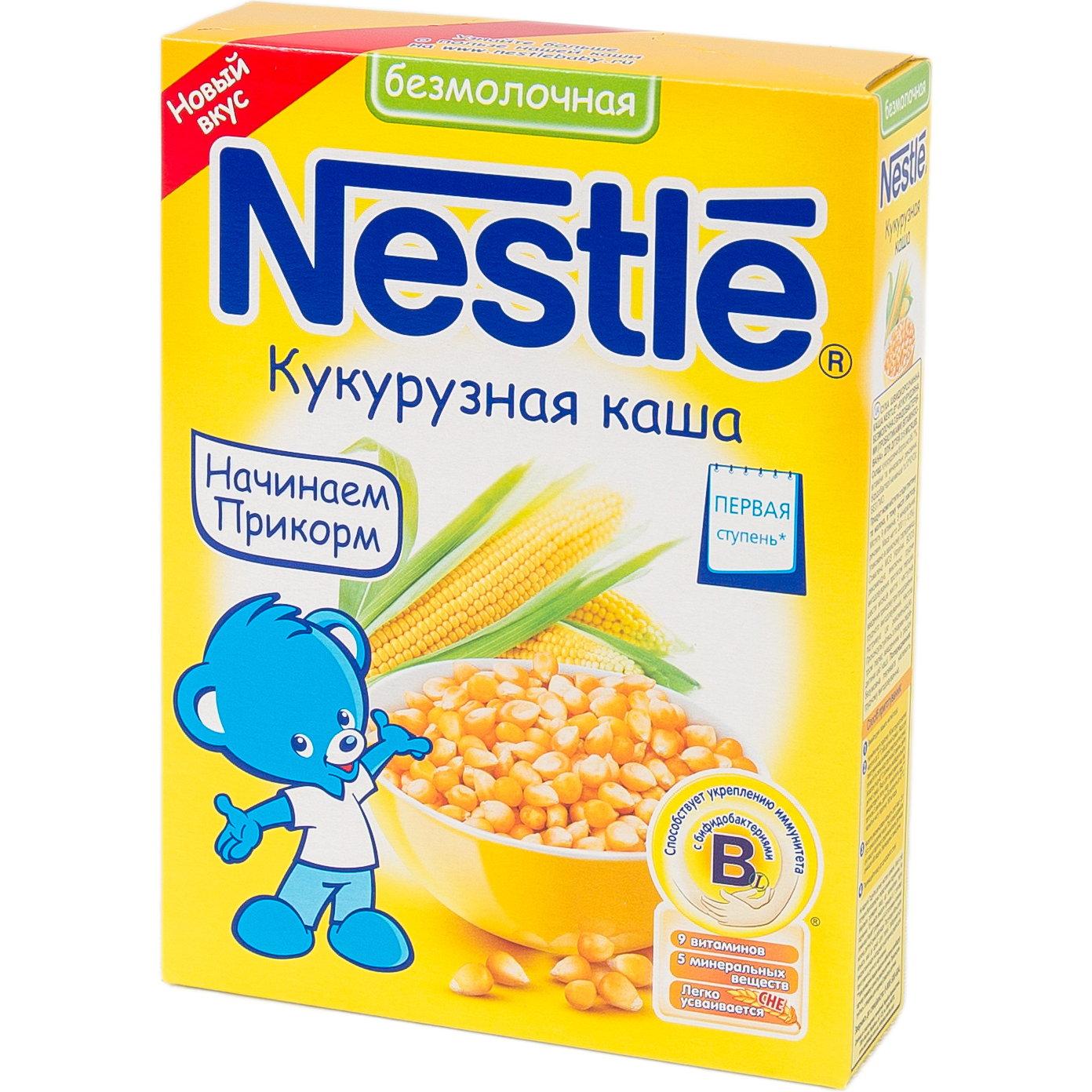 Каша Nestle безмолочная 200 гр Кукурузная (1 ступень)<br>