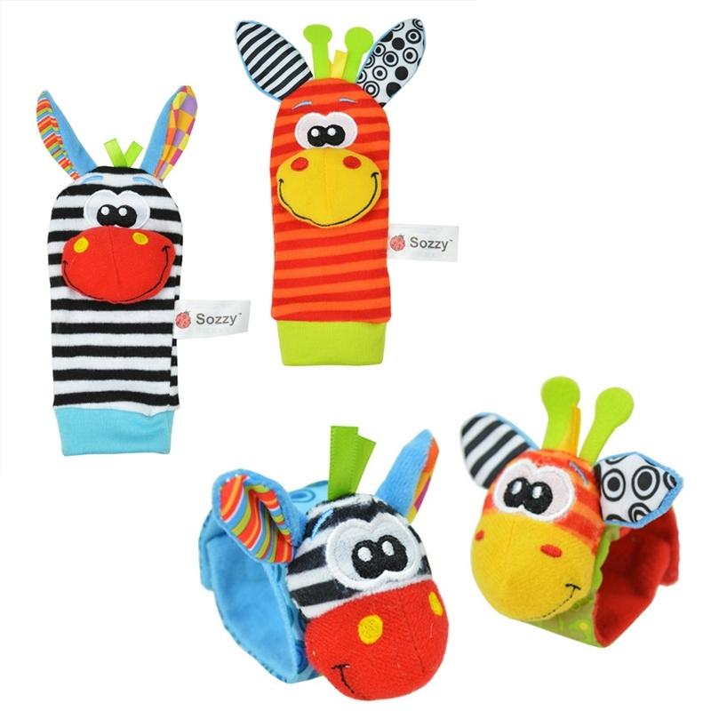 Набор детских носочков и напульсников Bradex с погремушками Забавные зверюшки Забавные зверюшки<br>