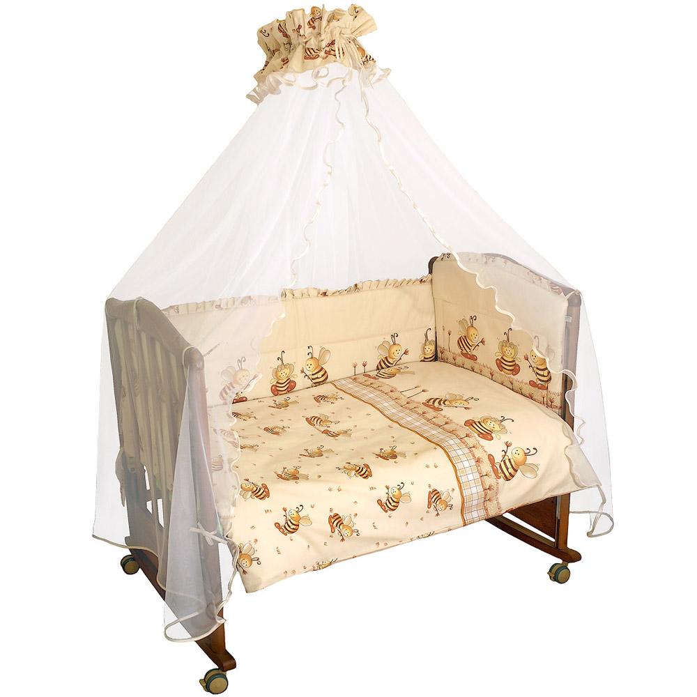 Комплект в кроватку Сонный гномик Пчелки Бежевый<br>
