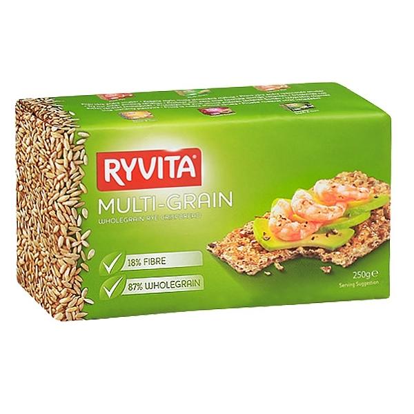 Хлебцы RYVITA 250 гр Многозерновые из цельного зерна Multi-Grain 12 шт<br>