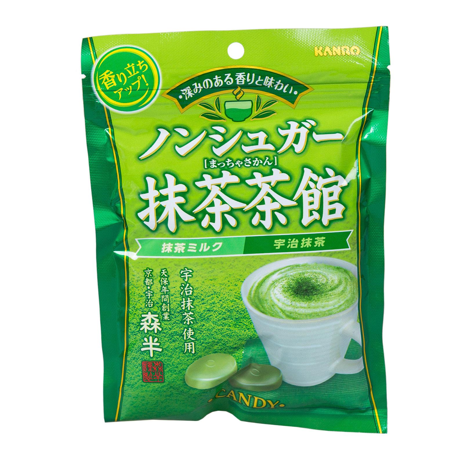 Конфеты Canro Co с зеленым чаем Matcha Леденцы без сахара 110 гр<br>