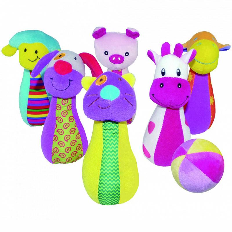 Развивающая игрушка Biba Toys Набор боулинга. Счастливая ферма<br>