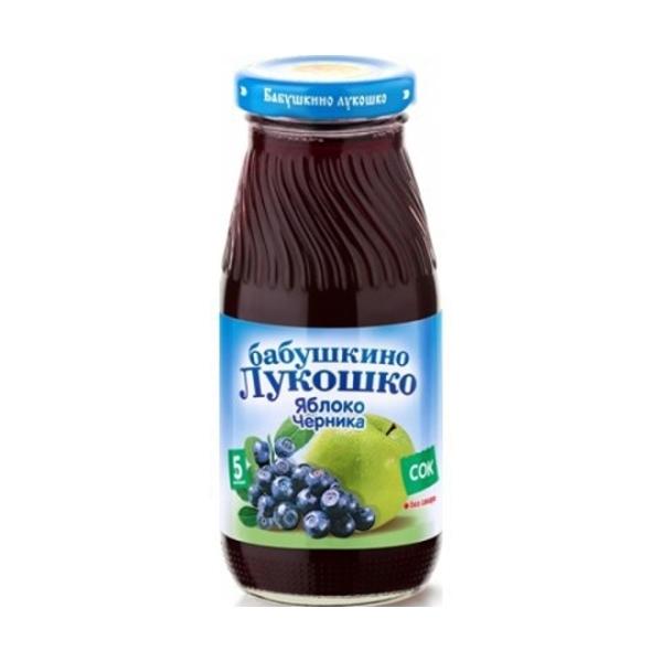 Сок Бабушкино лукошко 200 мл Яблоко с черникой (с 5 мес)<br>