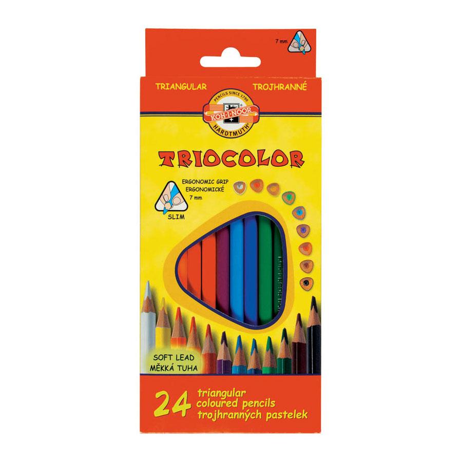 Набор карандашей цветных KOH-I-NOOR TRIOCOLOR 24 цвета<br>
