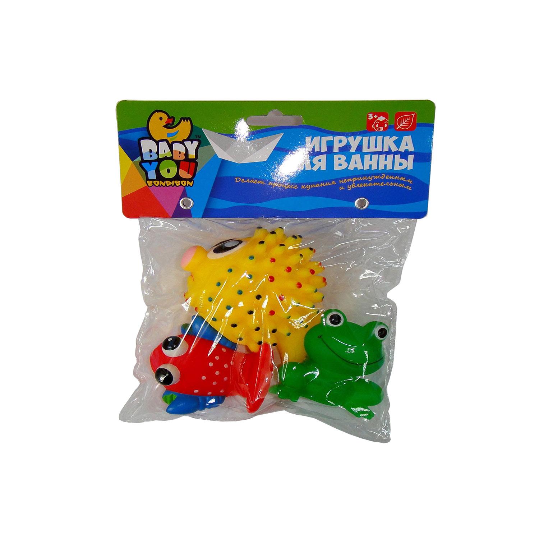 Игрушки для ванной Bondibon Краб, Рыбы