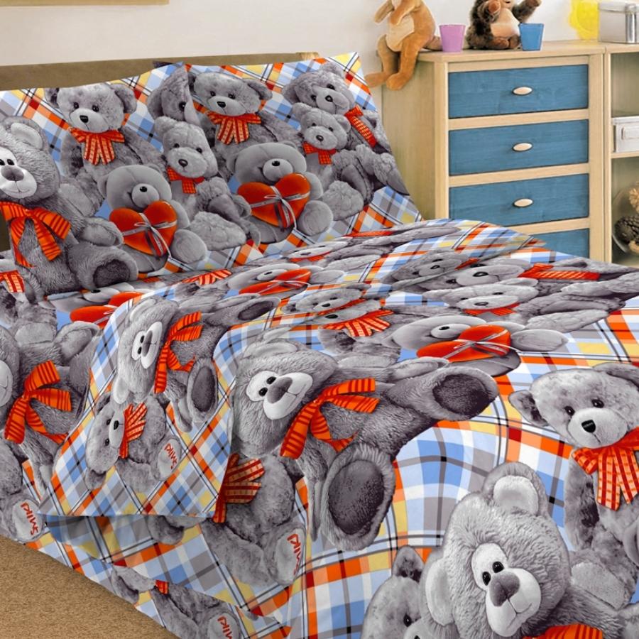 Комплект постельного белья детский Letto Тедди<br>