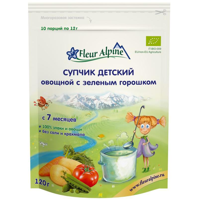 Супчик Fleur Alpine 120 гр Зелёный горошек (с 7 мес)