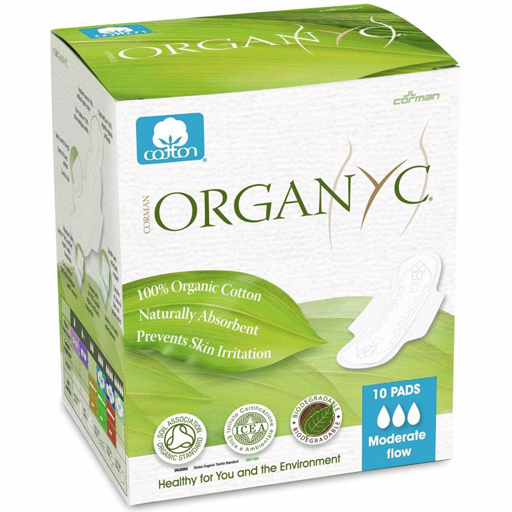 Прокладки с крылышками Organyc 3 капли ультратонкие 10шт<br>