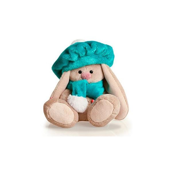 Мягкая игрушка Зайка Ми в бирюзовой беретке 15 см