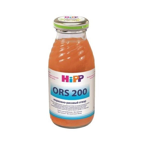 Сок Hipp ORS 200 мл Морковно-рисовый отвар (с 4 мес)