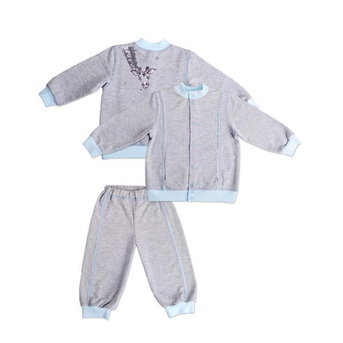 """Костюм Мамуляндия """"Жираф"""" (курточка и брюки) серый меланж для мальчика размер 86 (А-50П-Ф-М)"""