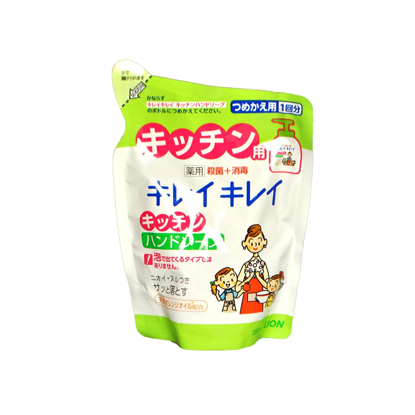 Жидкое мыло для рук Lion KireiKirei с апельсиновым маслом (запасная упаковка) для кухни 200 мл<br>