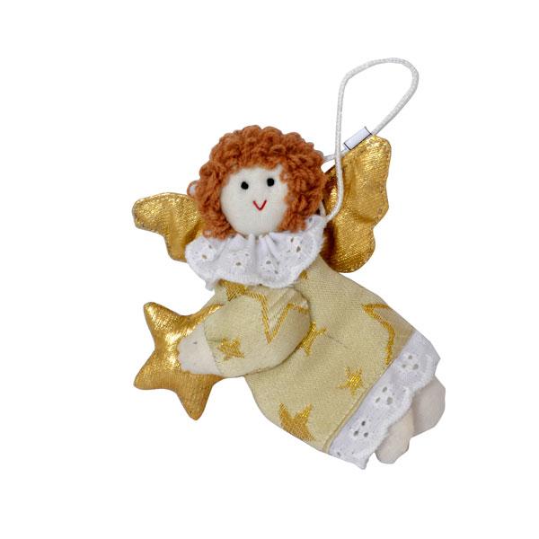 Украшение елочное Winter Wings Ангел со звездочкой 11 см полиэстр<br>