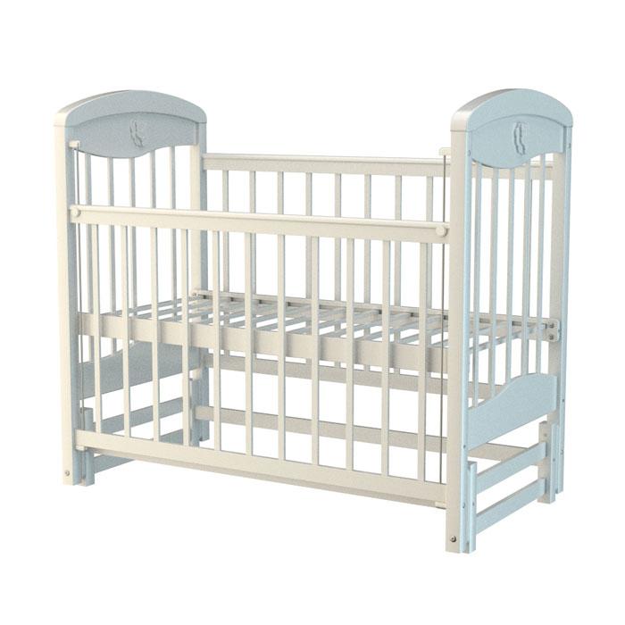 Кроватка Briciola 2 с продольным маятником Белая<br>