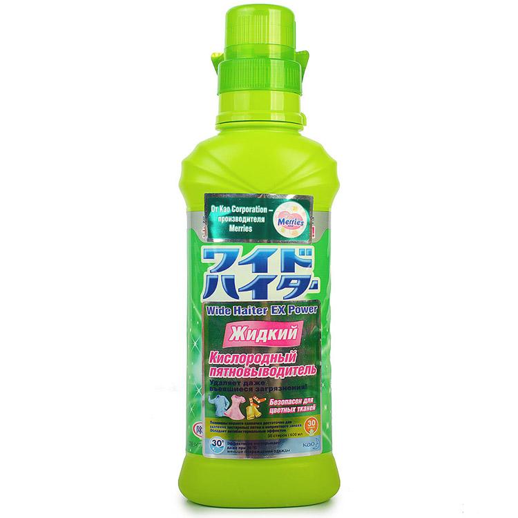 Пятновыводитель KAO ATTACK WIDE HAITER кислородный 600 мл. (жидкий)<br>