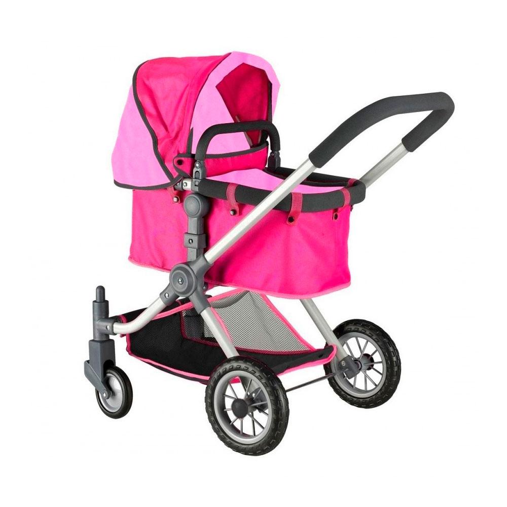 Кукольная коляска RT 646 Фуксия и розовый<br>