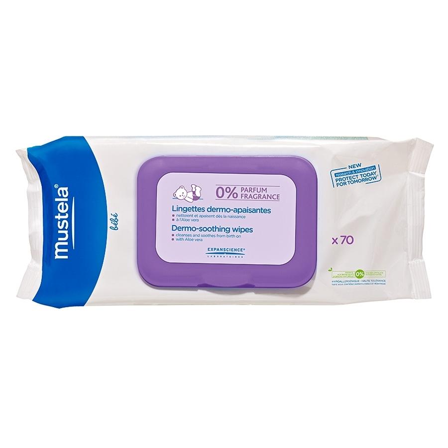 Салфетки без запаха Mustela 70 шт для мягкого очищения