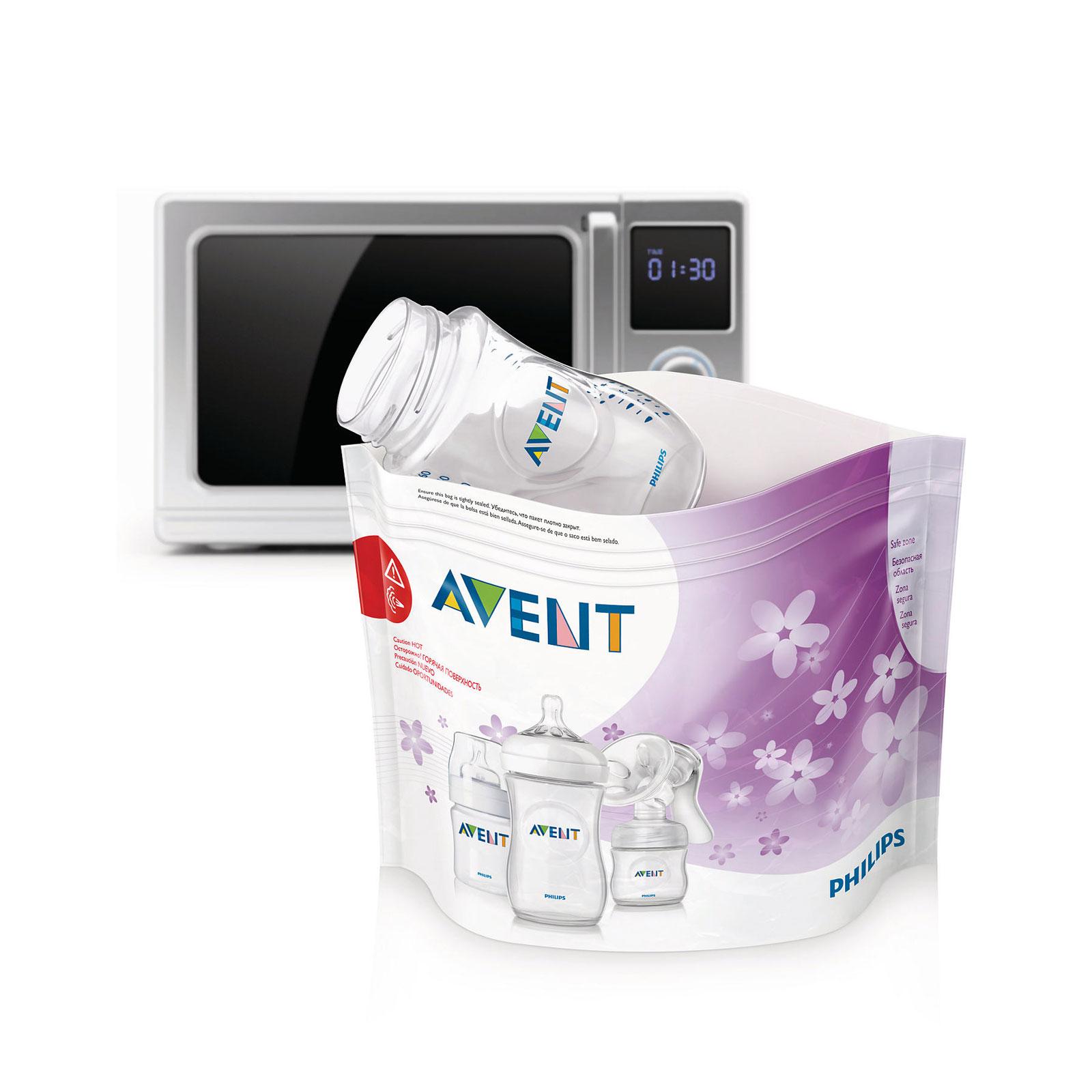 Пакеты для стерилизации Philips Avent В микроволновой печи 5 шт.<br>