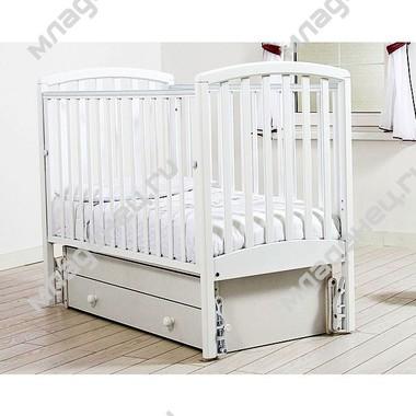 Кроватка Гандылян Дашенька маятник Белая
