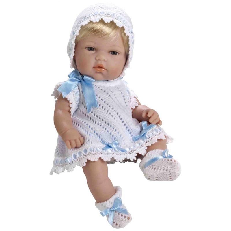 Кукла Arias 33 см Пупс блондинка Голубой бант<br>