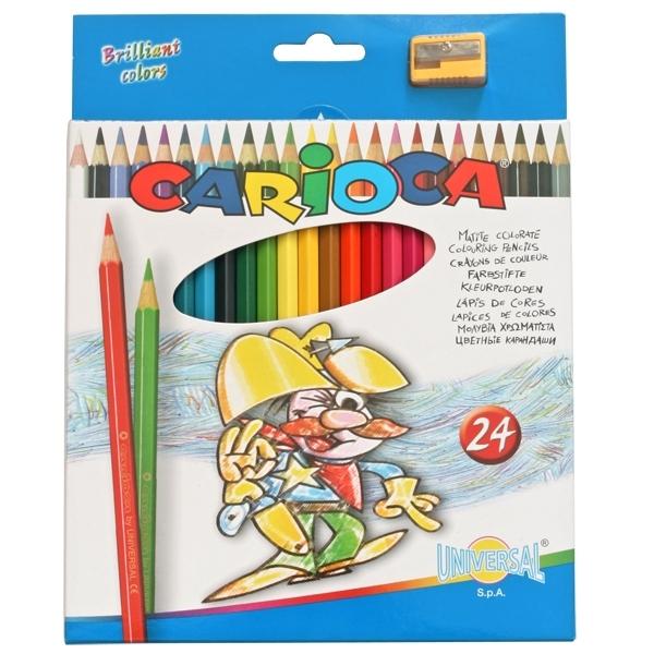 Набор карандашей цветных CARIOCA 24 цвета и точилка<br>